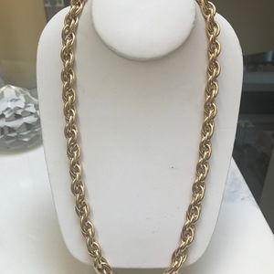 "Givenchy  22"" Gold Tone Chain Necklace"